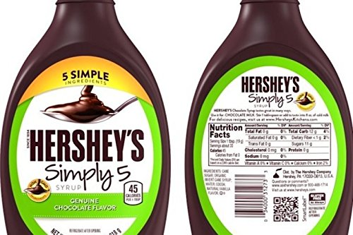 - HERSHEY'S SIMPLY 5 GENUINE CHOCOLATE FLAVOR SYRUP ( 2 PACK)