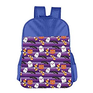 Kids School Bag Halloween Cat And Ghost Wallpaper Double Shoulder Backpacks Travel Gear Daypack Gift