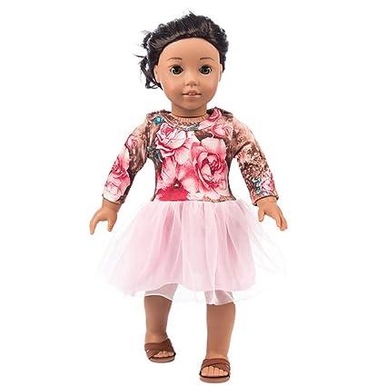 Mini Dress Yarn Accessory Fashion Yarn Round Neck 18 Inch Cute Doll Clothes