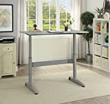 HOMES: Inside + Out IDF-DK6092GY-S Agate Adjustable Desk Not Applicable, Small, Gray
