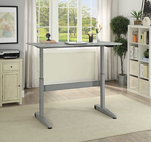 HOMES: Inside + Out IDF-DK6092GY-S Agate Adjustable Desk Not Applicable, Small, Gray by HOMES: Inside + Out