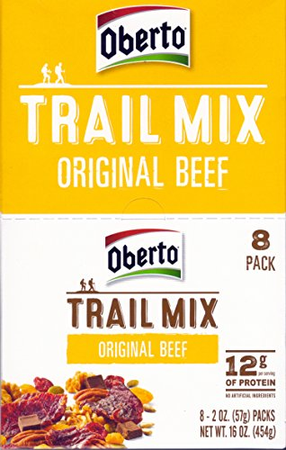 Oberto ORIGINAL BEEF JERKY TRAIL MIX 8-Pack (8 x 2 oz. bag)
