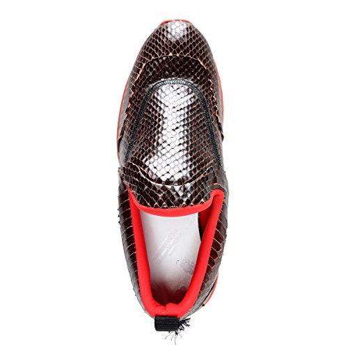 Maison Margiela 22 Kvinners Slange Hud Skinn Joggesko Loafers Sko Oss 6 Det 37