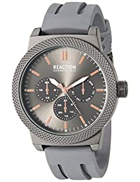 Kenneth Cole REACTION Men's 'Sport' Quartz Metal and Silicone Casual Watch, Color:Grey (Model: 10031943)
