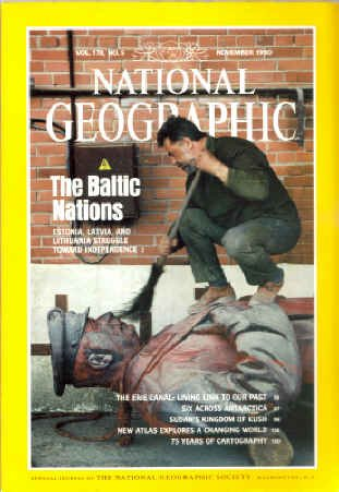 National Geographic Magazine, November 1990 (Baltic Nations) (Volume 178, No. 5)