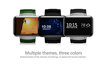 iSTYLE Bluetooth Smart Fitness Watch DM98 3G Android 4 4 iOS WiFi GPS  Health Wrist Bracelet Heart Rate Sleep Monitor Smart Wearable Devices  (Silver)