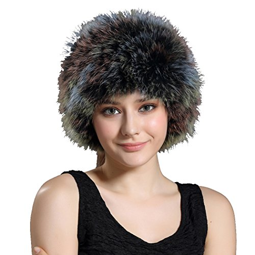 BeFur Womens Real Fur Headband Hat Girls Fashion Winter Scarves