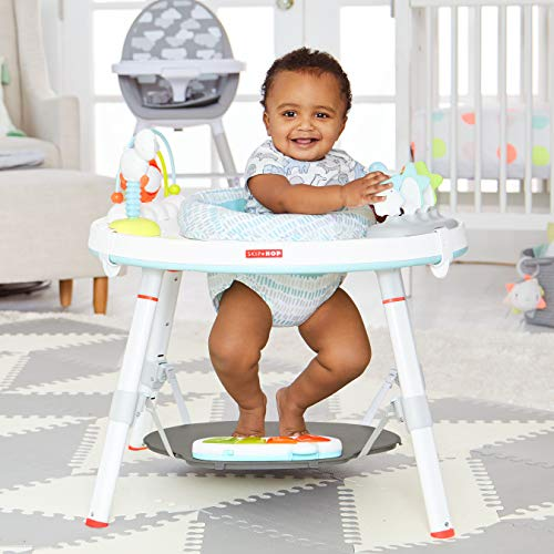 5174PeLAk6L - Skip Hop Baby's View 3-Stage Activity Center, Silver Lining Cloud, 4 Months