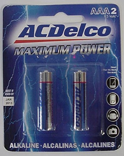 AC Delco AAA Maximum Power Alkaline Battery - 2 Pack