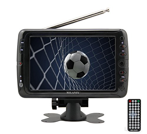 "Milanix MX7 7"" Portable Widescreen LCD TV with Detachable Antennas"