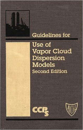 Guidelines for Use of Vapor Cloud Dispersion Models