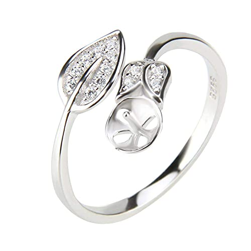 ff2c943f6b NY Jewelry 925 Sterling Silver Adjustable Flower Rings for Women Pearl  Jewelry, Design Pearl Ring