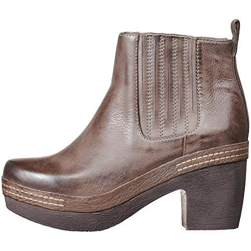 daf0f3734a0c Antelope Women s 995 Leather Stitched Clog Bottom Bootie