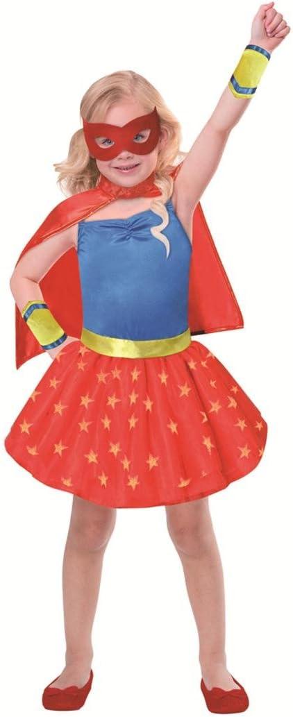 SP Funworld Disfraz de Superhéroe para Niña con Capa, Puños ...