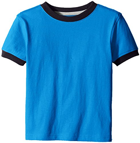 Ringer Contrast - Scout + Ro Little Boys' Short-Sleeve T-Shirt with Contrast Trim, Electric Blue, 7