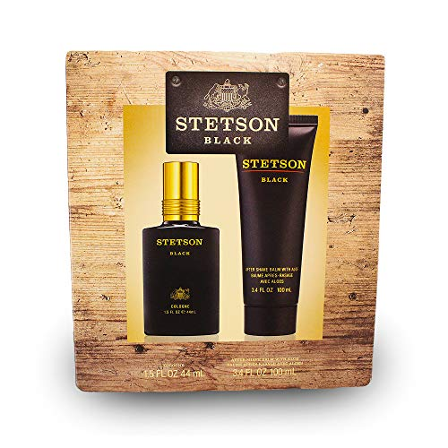 Stetson Black 2pc Set - 1.5oz Cologne Spray + 3.4oz Aftershave Balm with -
