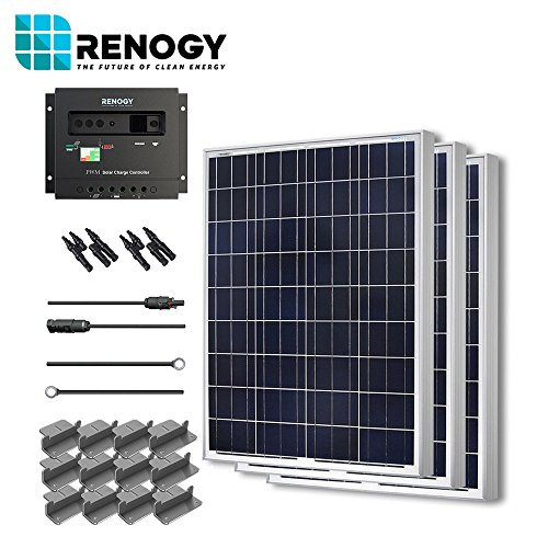 Solar-Panel-300-Watt-Starter-Kit-12V-RV-Boat-100W-Watts-Poly-Off-Grid-System