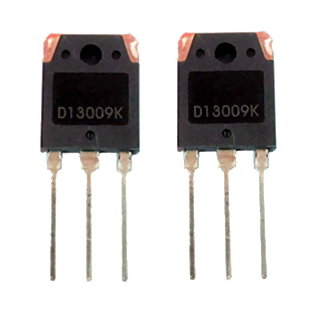 Gazechimp 2 piezas Transistor de Potencia D13009K NPN Conmutació n Fuente de Alimentació n Potencia Computadora