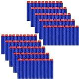 Locisne 100st 7.2cm Refill Darts Soft EVA Foam Bullet Ammo Pack voor Nerf N-Strike Elite Series-Blue (EVA Bullet 100)