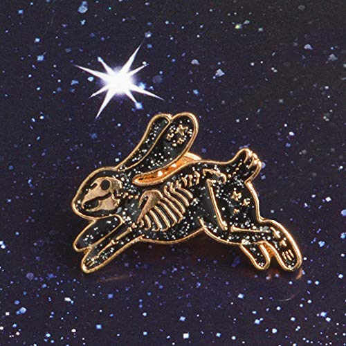 Xeminor Premium Skeleton Rabbit Enamel Pin Badges Brooches for Men Women Backpack Purse Hat Accessories by Xeminor (Image #4)
