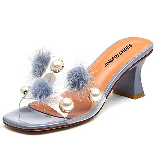 Verano áspero con sandalias de moda/Fuera de las zapatillas de peluche A