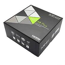 MINIX NEO X8 Plus Android 4.4 XBMC Smart Set TOP TV Box Amlogic S802 Quad Core 4K 3D Blu-ray ISO HDMI Streaming Media Player Mini PC Cortex A9r4 Processor 2GB Ram 16GB eMMC Rom 2.4GHZ/5.8GHZ Dual Band Wifi