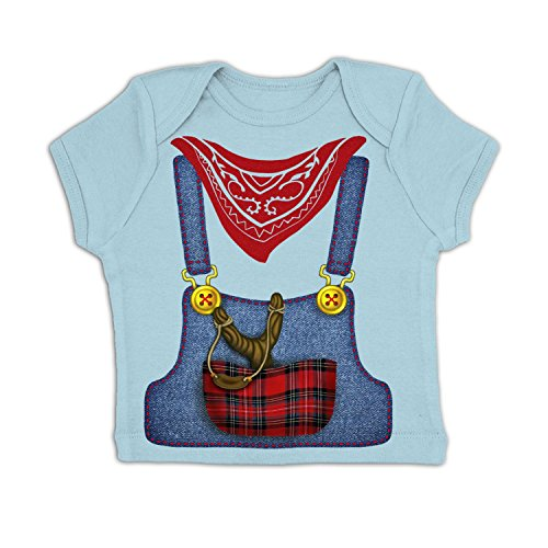 [Hillbilly Costume Baby T-shirt - Baby Blue 6-12 Months] (Farmers Dress Up Costumes)