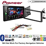 Volunteer Audio Pioneer AVH-201EX Double Din Radio Install Kit with CD Player Bluetooth USB/AUX Fits 2009-2013 Subaru Forester, 2008-2014 Subaru Impreza