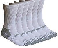 Puma Crew Socks for Men - 6 Pairs - (White) Cotton Cushioned
