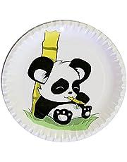 autooptimierer.de Kindergeburtstag Partyteller Panda stabile Pappteller rund 23cm Einwegteller Partyset Grillfest Geburtstag Deko Feier