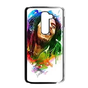 Bob Marley 005 LG G2 Cell Phone Case Black TPU Phone Case RV_649629