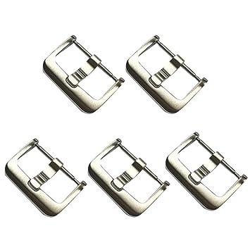 Hemobllo - 10 Hebillas de Acero Inoxidable para Reloj (18 mm ...