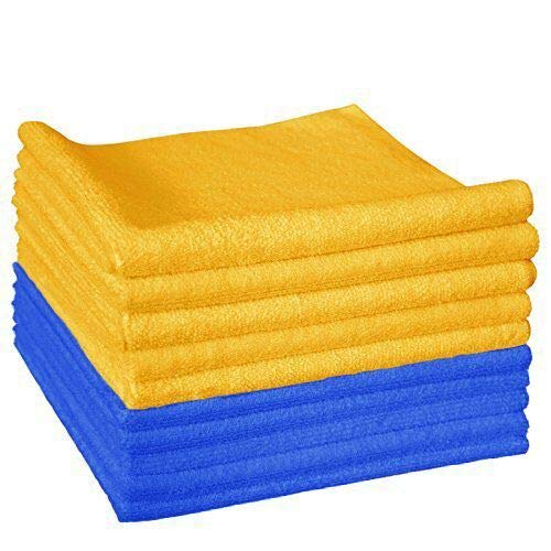 The Rag Company (10-Pack) 16 in. x 16 in. Professional EDGELESS 365 GSM Premium 70/30 Blend Microfiber POLISHING, Wax Removal and AUTO Detailing Towels