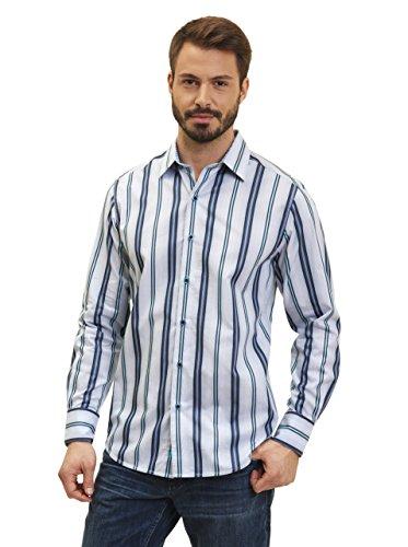 Robert Graham Glendora L/S Woven Shirt Grey Medium by Robert Graham