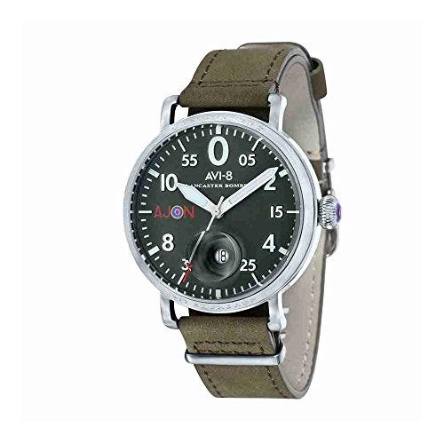 AVI-8 Lancaster Bomber Green Dial Mens Watch 4049-01