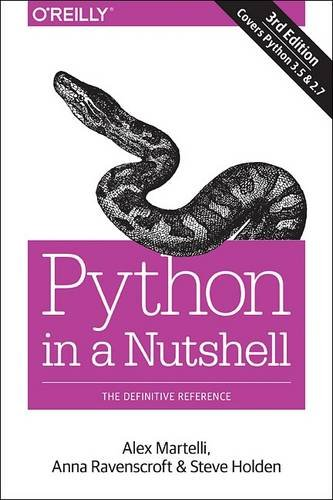 Book cover of Python in a Nutshell: A Desktop Quick Reference by Alex Martelli