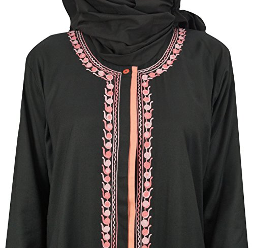 El Hijab Abaya Bimba Sport Burqa Ropa De Vestido Maxi Islámico Mujeres Con Negro TwRwO