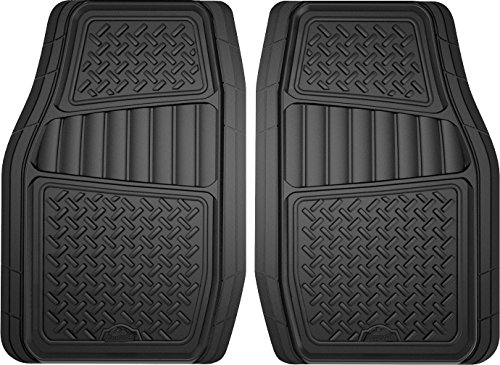 (Custom Accessories Armor All 78830 2-Piece Black All Season Truck/SUV Rubber Floor Mat)