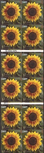 Us Stamps Booklet Pane - US Stamp - 2008 Sunflower - Booklet Pane of 20 Stamps - Scott #4347