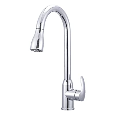 Dura Faucet DF-NMK508-CP RV Pull-Down Kitchen Faucet (Chrome): Automotive