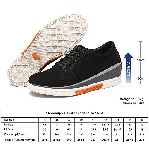 CHAMARIPA Herren Lauflernschuhe Sneakers, Schwarz - Schwarz - Größe: 41.5