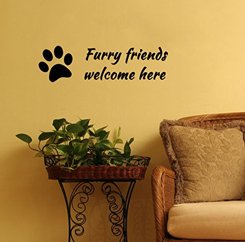 Furry Friends Welcome adorable Decal product image