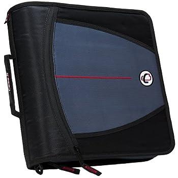 Case-it Mighty Zip Tab 3-inch Zipper Binder, Black, D-146-blk 0