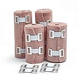 Premium Elastic Bandage Wrap Compression Rolls Set Of 4 Pack Inc 4...