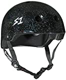 S1 Lifer Black Gloss Glitter Roller Derby BMX Longboard Skateboard Helmet Size Small