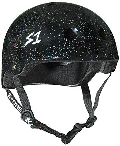 S1 Lifer Black Gloss Glitter Roller Derby BMX Longboard Skateboard Helmet Size Small by S1