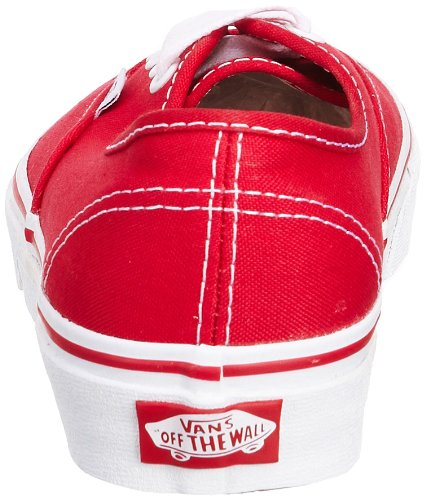 Authentic Core Classic Herren Sneakers Red Vans 6AS0n8n