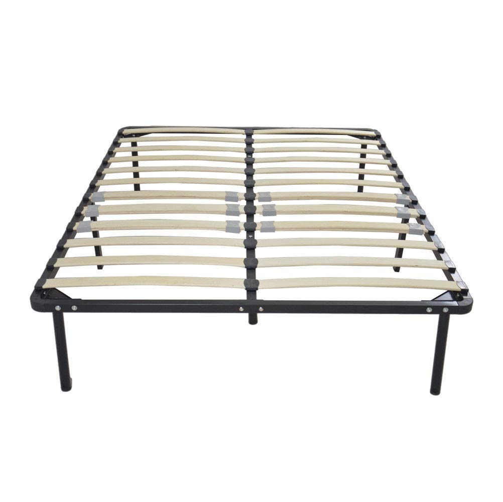 LordBee Modern Wood Slats Metal Bed Frame Platform Bedroom Mattress Foundation Base Set Color Finish Bed Full Choose All Family (Full) by LordBee