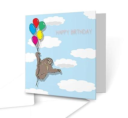 Fiesta perezoso - feliz cumpleaños - Original ilustración ...