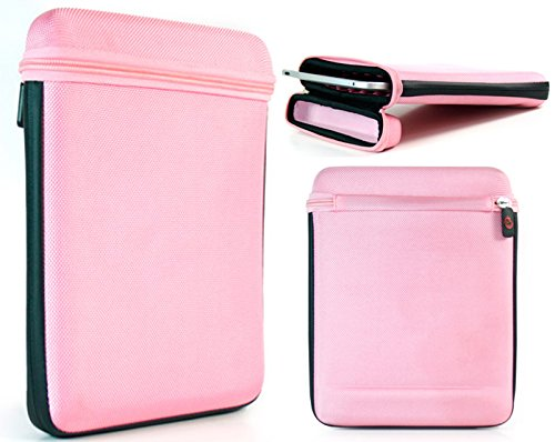 Kroo Pink Nylon Tablet Case fits iRULU eXpro X1a 9 Inch | Universal Sleeve (Limited - Irulu Tablet 9